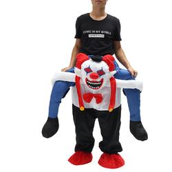 Category: Dropship Party Supplies, SKU #1341709, Title: Devil Clown Unisex Dwarf Carry Me Fancy Piggy Back Ride On Dress Mascot Costume Party Pants