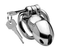 Category: Dropship New Arrivals, SKU #AF441, Title: Rikers 24-7 Stainless Steel Locking Chastity Cage