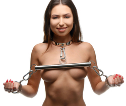 Category: Dropship New Arrivals, SKU #AF525, Title: Stainless Steel Yoke with Collar and Cuffs