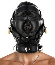Category: Dropship Adults Only, SKU #SV560-SM, Title: Strict Leather Sensory Deprivation Hood- SM