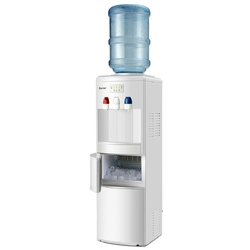 Category: Dropship Household, SKU #EP23573WH, Title: Top Loading Water Dispenser with Built-In Ice Maker Machine-White