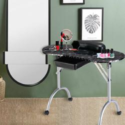 Category: Dropship Nail Care, SKU #HB84505BK, Title: Manicure Nail Table Portable Station Desk Spa Beauty Salon Equipment 2 Color-Black