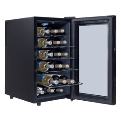 Category: Dropship Wine Making, SKU #HW54593, Title: 18 Bottle Freestanding Thermoelectric Wine Cooler