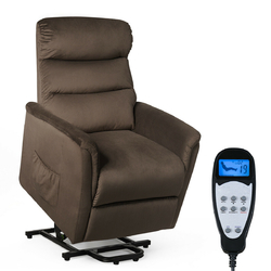 Category: Dropship Massage, SKU #HW62970, Title: Power Lift Recliner Massage Chair with Warm Fabric