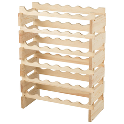Category: Dropship Wine Making, SKU #HW63195, Title: 36 Bottles Stackable Wooden Wobble-Free Modular Wine Rack