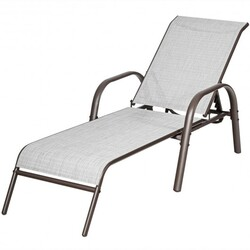 Category: Dropship Pool And Spa, SKU #HW66028WH, Title: Set of 2 Patio Lounge Chairs-White