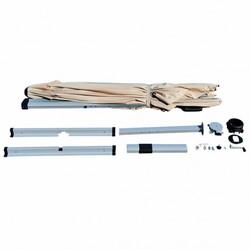 Category: Dropship Accessories, SKU #OP70233BE, Title: 10 Ft 360 Degree Tilt Aluminum Square Patio Offset Cantilever Umbrella-Beige