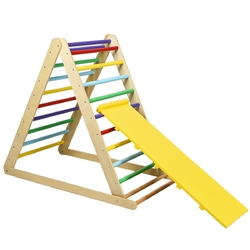 Category: Dropship Baby, SKU #TY327400, Title: Foldable Wooden Climbing Triangle Indoor Home Climber Ladder