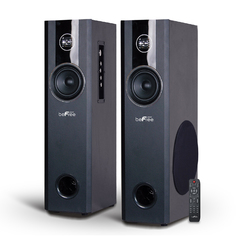 Category: Dropship Sound, SKU #BFS-T120-RB, Title: beFree Sound 2.1 Channel Bluetooth Powered Black Tower Speakers