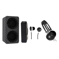 Category: Dropship Bluetooth, SKU #NAS-3061-BLACK, Title: Naxa Portable Bluetooth® Stereo Speakers Entertainment Pack-Black