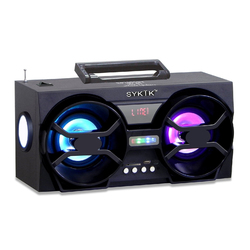 Category: Dropship Bluetooth, SKU #SP2091BT, Title: Sykik Bluetooth Boom Box with SD/MMC/USB, FM Radio, Built-in Rechargeable Battery & Remote Control