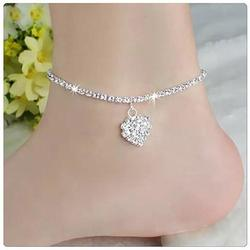 Category: Dropship Anklet, SKU #8521614736, Title: Glowing Heart Crystal Anklet