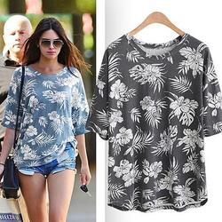 Category: Dropship Shirt, SKU #9404832528, Title: Hibiscus Garden Tropical Top In 3 Colors