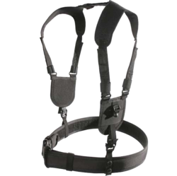 Category: Dropship Tactical Gear, SKU #BH 44H002BK, Title: Ergonomic Duty Belt Harness Large/X-Large