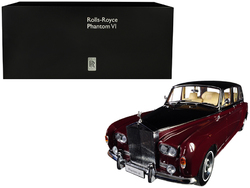 Category: Dropship Die Cast Model Cars And Trucks, SKU #08905RBK, Title: Rolls Royce Phantom VI Red with Black Top 1/18 Diecast Model Car by Kyosho