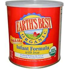 Category: Dropship Baby, SKU #B52905, Title: Earth's Best Organic Infant Formula With Iron, Dha & Ara (4x23.2Oz)
