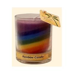 Category: Dropship Eco-home/candles, SKU #ECW1010354, Title: Aloha Bay Votive Jar Candle Unscented Rainbow (12x 2.5 Oz)