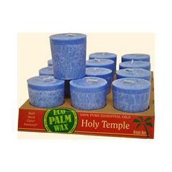 Category: Dropship Eco-home/candles, SKU #ECW1030923, Title: Aloha Bay Votive Eco Palm Wax Candle Holy Temple (12 Pack)