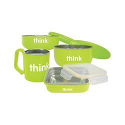 Category: Dropship For Baby/feeding Time, SKU #ECW1236850, Title: Thinkbaby Feeding Set BPA Free Green