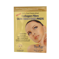 Category: Dropship Vitamins Supplements/skin & Hair, SKU #ECW148759, Title: Reviva Labs Collagen Fiber Skin Brightener Pads 3 inches x 4 inches (6 x 2 Packs)