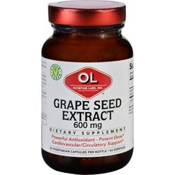 Category: Dropship Health & Beauty/botanicals & Juices, SKU #ECW1627827, Title: Olympian Labs Grape Seed Extract  600 mg  60 Vegetarian Capsules