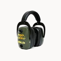 Category: Dropship Safety, SKU #503229, Title: Pro Ears Pro Mag Gold Series Ear Muffs Green GS-DPM-G
