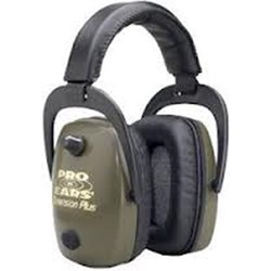 Category: Dropship Safety, SKU #603228, Title: Pro Ears Pro Slim Gold Series Ear Muffs Green GS-DPS-G
