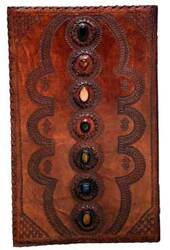 Category: Dropship Occult & Magical, SKU #BBBU613, Title: 7 Stone leather blank book