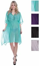 Category: Dropship Apparel, SKU #1989181, Title: Case of [48] Women's Chiffon Dresses - Solid Colors