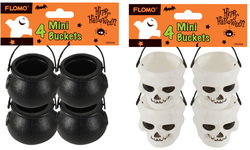 Category: Dropship Party Supplies, SKU #1997148, Title: Case of [72] Halloween Mini Skull and Cauldron Buckets