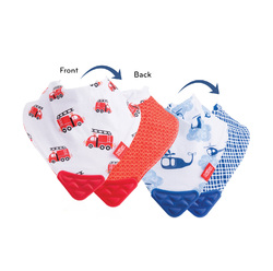 Category: Dropship Baby, SKU #2314938, Title: Case of [72] Nuby Bandana Bib with Teether 2-Pack - Boy