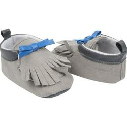 Category: Dropship Baby, SKU #2321441, Title: Case of [144] Cutie Pie Grey and Blue Baby Moccasins