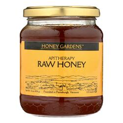 Category: Dropship Grocery, SKU #1103373, Title: Honey Gardens Apiaries Apitherapy Honey - Raw - Case of 4 - 1 lb.