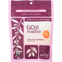 Category: Dropship Botanicals And Herbs, SKU #1270982, Title: Navitas Naturals Goji Berry Powder - Organic - Freeze-Dried - 8 oz - case of 12