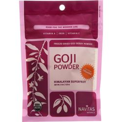 Category: Dropship Botanicals And Herbs, SKU #1271055, Title: Navitas Naturals Goji Berry Powder - Organic - Freeze-Dried - 4 oz - case of 12