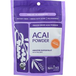 Category: Dropship Botanicals And Herbs, SKU #1271469, Title: Navitas Naturals Acai Powder - Organic - Freeze-Dried - 8 oz - case of 12