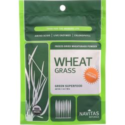 Category: Dropship Botanicals And Herbs, SKU #1274067, Title: Navitas Naturals Wheat Grass Powder - Organic - 1 oz - case of 6