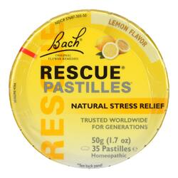 Category: Dropship Vitamins & Supplements, SKU #1512086, Title: Bach Rescue Remedy Pastilles - Lemon - 50 grm - Case of 12
