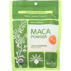 Category: Dropship Botanicals And Herbs, SKU #1551894, Title: Navitas Naturals Maca Powder - Organic - 8 oz - case of 12