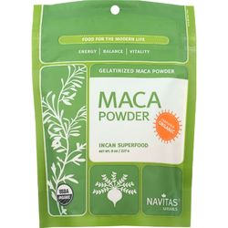 Category: Dropship Botanicals And Herbs, SKU #1581511, Title: Navitas Naturals Maca Powder - Organic - Gelatinized - 8 oz - case of 12