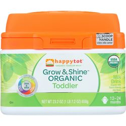 Category: Dropship Baby, SKU #1620111, Title: Happy Tot Milk Drink - Organic - Grow and Shine - Toddler - Powder - 23.2 oz - case of 4