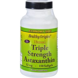 Category: Dropship Health Supplements, SKU #1626431, Title: Healthy Origins Astaxanthin - Natural - Triple Strength - 12 mg - 150 Softgels