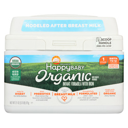 Category: Dropship Baby, SKU #2021129, Title: Happy Baby Organic Infant Milk Based Formula Powder - with Iron - Case of 4 - 21 oz
