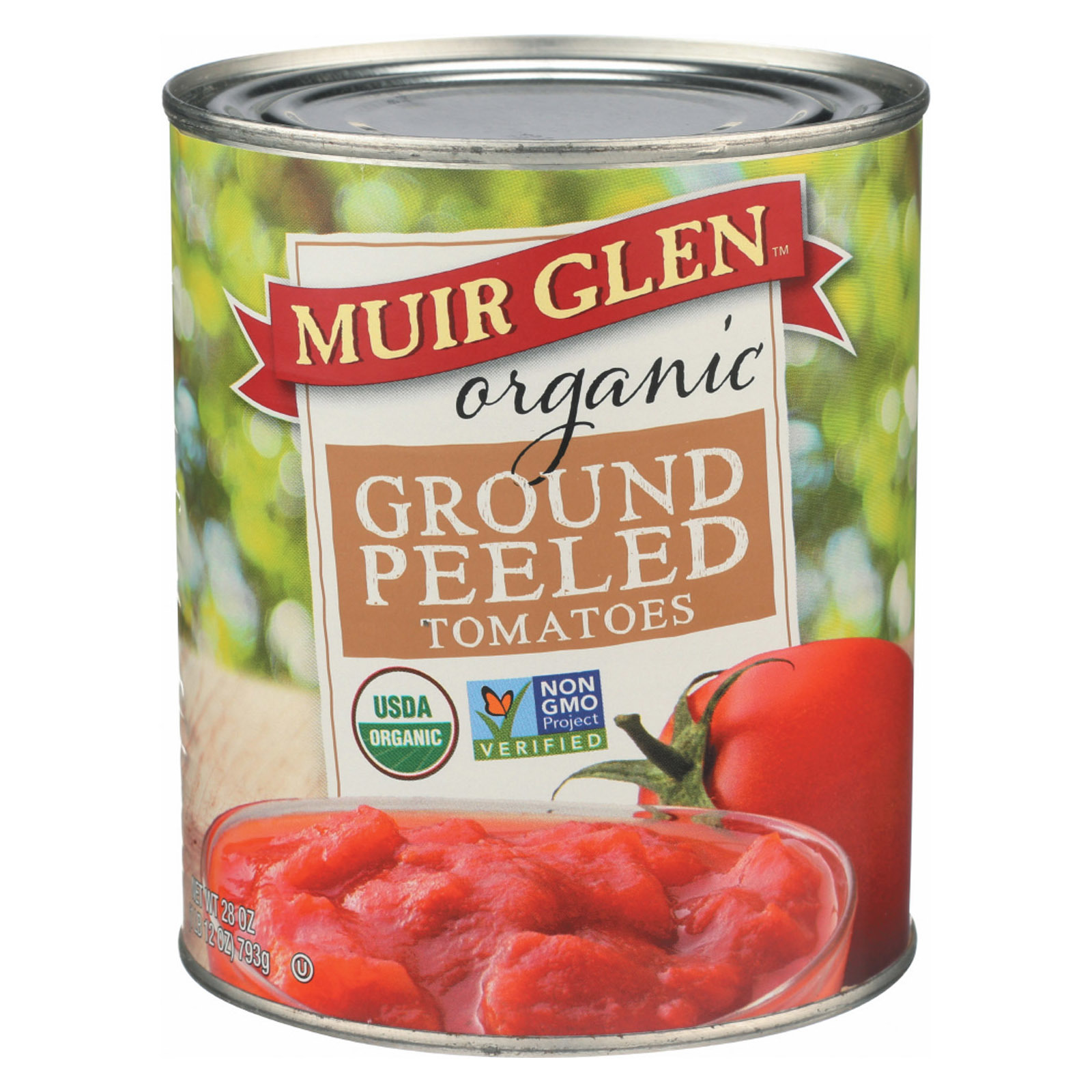 Muir Glen Ground Peeled Tomato - Tomato - Case of 12 - 28 oz.