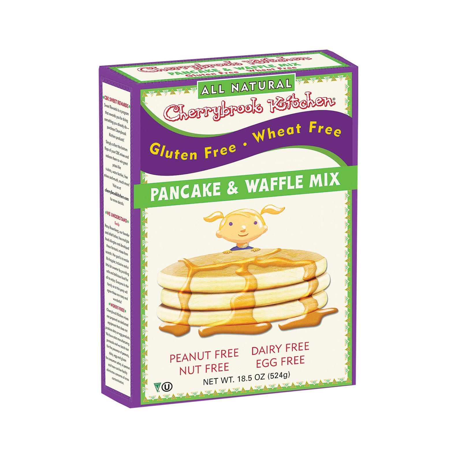 Cherrybrook Kitchen Pancake and Waffle Mix - Case of 6 - 18 oz.