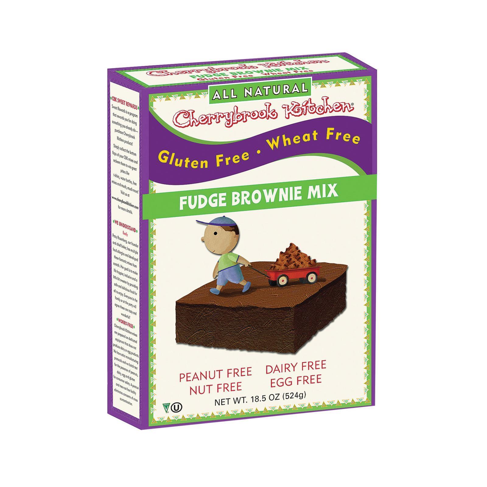 Cherrybrook Kitchen Brownie Mix - Wheat & Gluten Free - Case of 6 - 14 oz