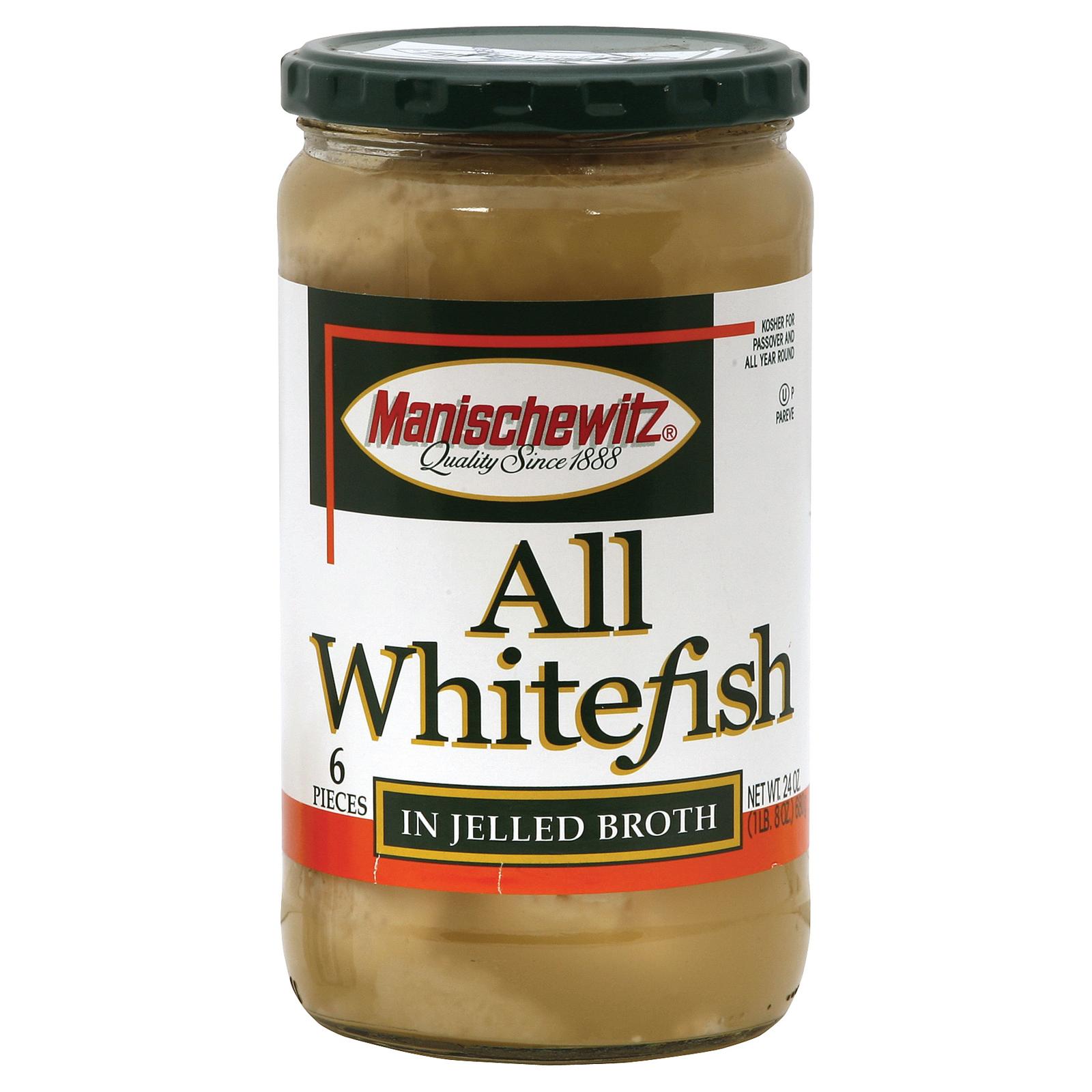 Manischewitz All Whitefish In Jelled Broth - Case of 12 - 24 oz.