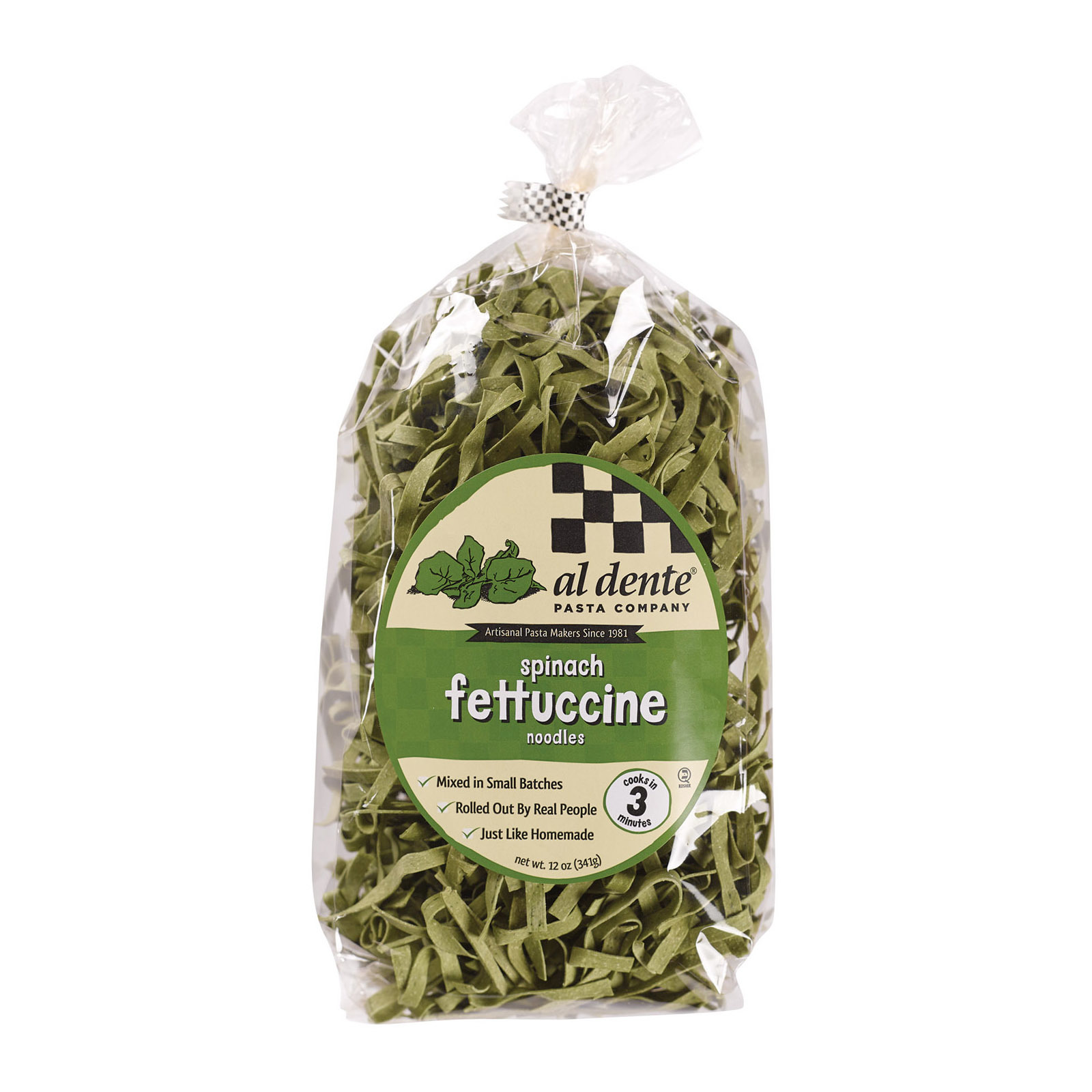 Al Dente Fettuccine - Spinach - Case of 6 - 12 oz.