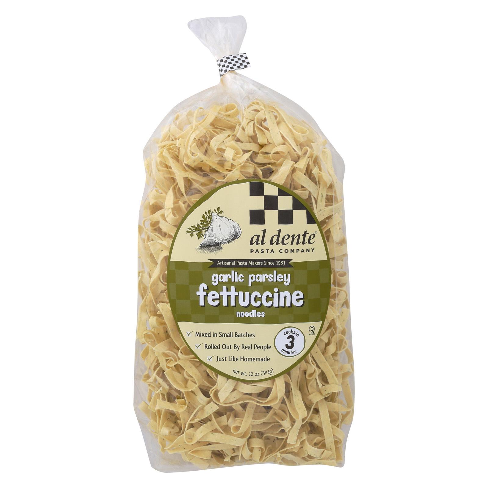 Al Dente Fettuccine - Garlic Parsley - Case of 6 - 12 oz.