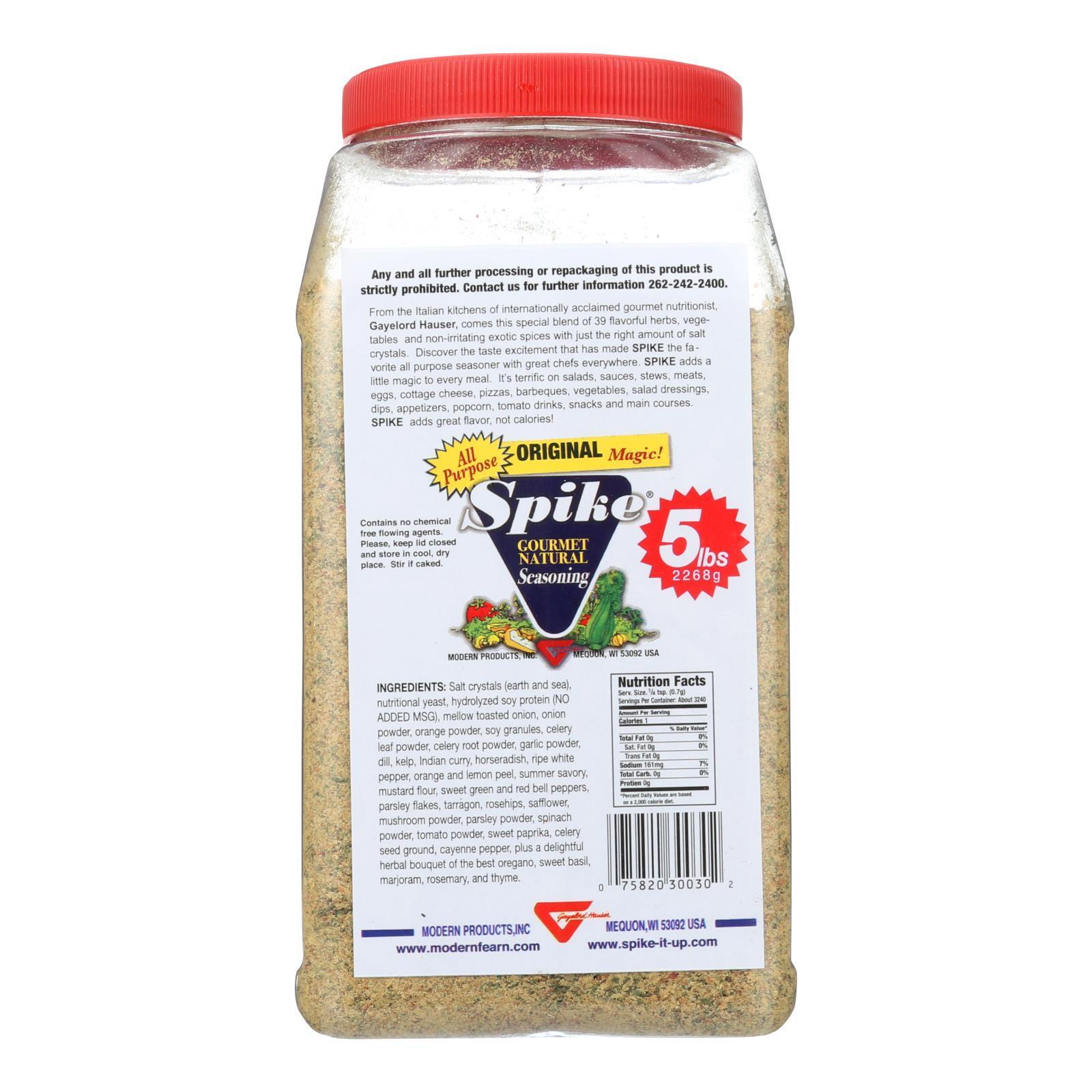 Modern Products Spike Gourmet Natural Seasoning - Bulk - 5 lb